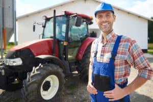 Man with Farm Equipment