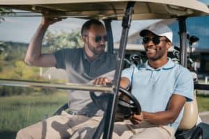 Guys with Golf Cart